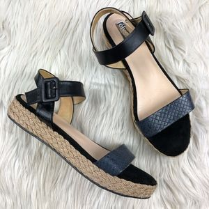 Elysess Anthro Flatform Espadrille Sandals